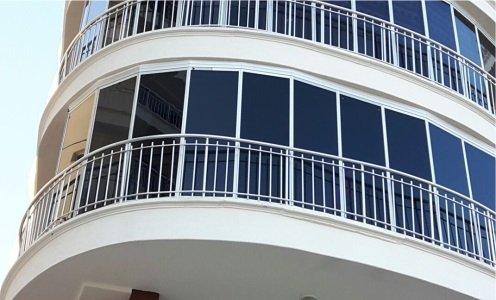 Yay Kavisli Açılı Balkon Isıcamlı Cambalkon Albert Genau